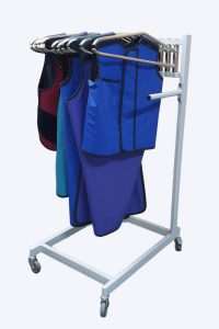 Amray Mobile vest and apron hanger