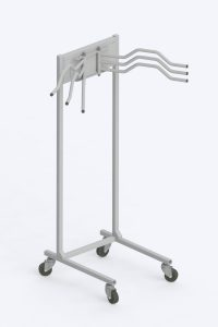 mobile multi-hanger for lead aprons and vests