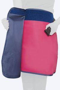 Radiation protective lead lined amray skirt