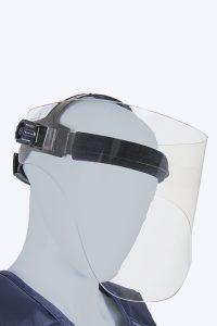 full panorama face shield of lead acrylic